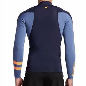 Hurley Swim - Hurley Fusion 101 LS Surf Jacket - Obsidian